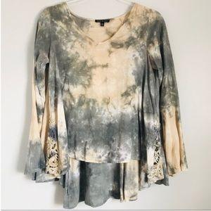 Anthropologie tie dye blouse